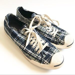 Converse plaid Jack Purcell sneakers/ 10.5